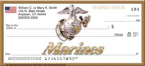 U.S. Marines Personal Checks