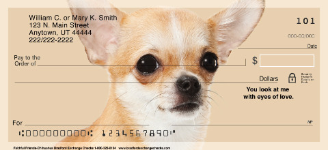 Faithful Friends - Chihuahua Personal Checks