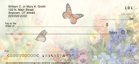 Lena Liu's Butterfly Gardens Personal Checks