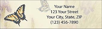 Lena Liu's Butterfly Gardens Return Address Label