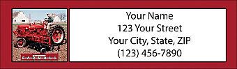 Farmall Return Address Label
