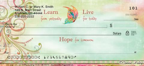 Live, Laugh, Love, Learn Personal Checks