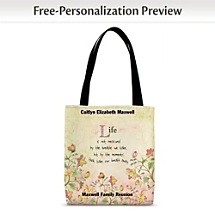 Share Uplifting Sentiments Wherever You Go with an Inspirational Carryall!