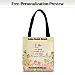 Live, Laugh, Love, Learn Fabric Tote Bag
