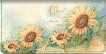 Sunflowers Checkbook Cover