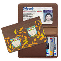 Challis & Roos Awesome Owls - Small Card Wallet