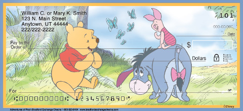 Adventures of Pooh Personal Checks