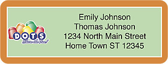 Tootsie Roll Return Address Label