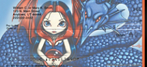 Mystic World fairy personal checks by Jasmine Becket-Griffith