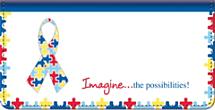 Autism: Imagine Checkbook Cover