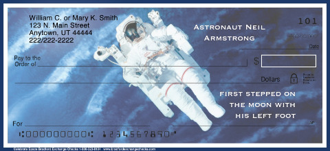 Space Discoveries Personal Checks