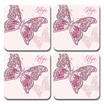 Our Coasters for Breast Cancer Support are Also a Pretty Parking Spot for Beverages