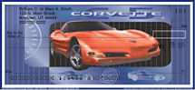 Corvette Personal Checks