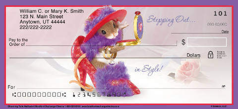 Charming Tails Hat-titude Personal Checks