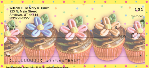 Cupcake Craze Personal Checks