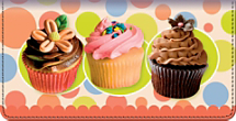Cupcake Craze Checkbook Cover