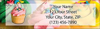 Cupcake Craze Return Address Label
