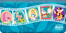 Alice In Wonderland Checkbook Cover