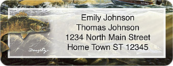 Gone Fishing Return Address Label