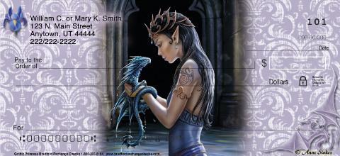 Gothic Princess Personal Checks
