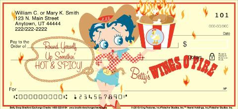 Betty Boop Personal Checks