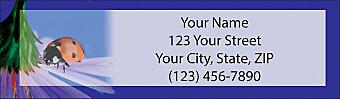 Lady Bug Luck Return Address Label