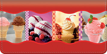 Ice Cream Dreams Checkbook Cover