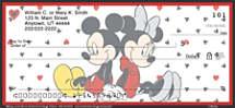 Mickey Loves Minnie Personal Checks