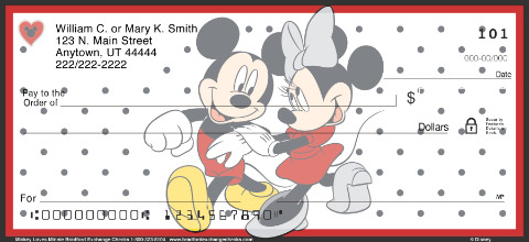 Mickey Loves Minnie Personal Checks