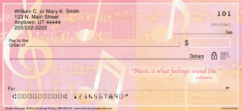 Music Speaks Personal Checks