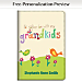 Grandkids Rule! Premium Fabric Refillable Journal