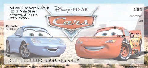 Disney Pixar Cars Personal Checks