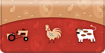 Challis & Roos American Farmhouse Checkbook Cover