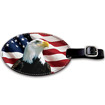 Our Patriotic Tag Makes Luggage Identification a Snap!