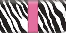 Zebra Print Checkbook Cover