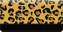 Cheetah Print Checkbook Cover