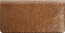 Western Tooled Checkbook Cover