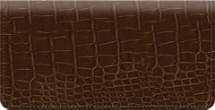 Brown Croc Checkbook Cover
