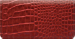 Red Croc Checkbook Cover