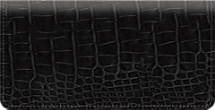 Black Croc Checkbook Cover