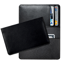 Black Leather Debit and Credit Card Holder