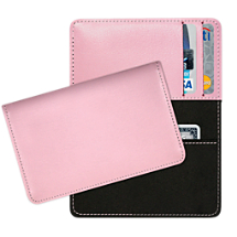 Pink Leather Debit and Credit Card Holder
