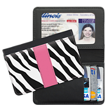 Zebra Print Small Card Wallet