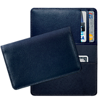 Navy Leather Small Card Wallet