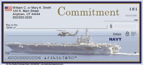 Navy Personal Checks