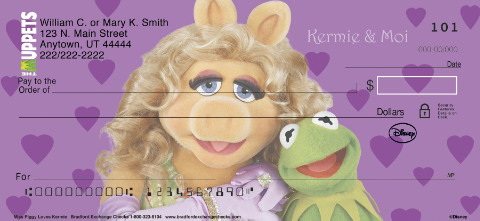 Miss Piggy Loves Kermie Personal Checks
