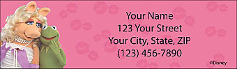 Miss Piggy Loves Kermie Return Address Label