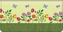 Challis & Roos Blooming Gardens Checkbook Cover