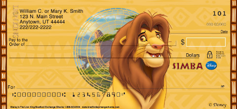 The Lion King Personal Checks