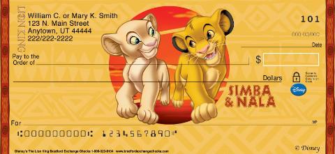 The Lion King Personal Checks